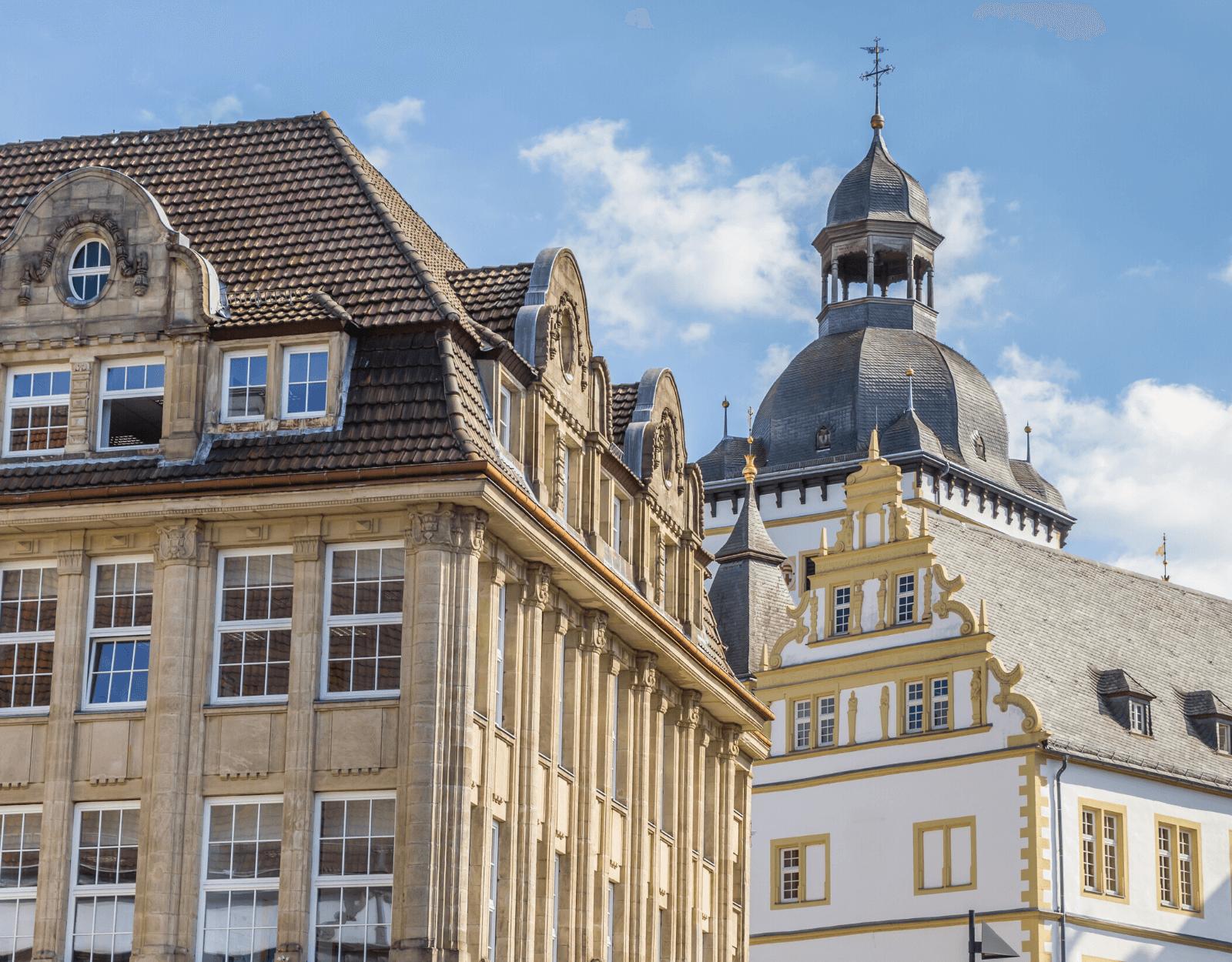 Historische Gebäude in Zentrum Paderborn_ Tante Emma bei SRTI